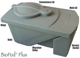 BioPod Plus Auto-Harvesting Black Soldier Fly Grub Composter
