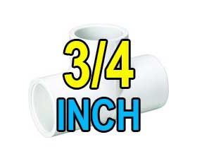 3/4 inch pvc fittings and valves