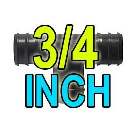 3/4 inch barbed fittings and valves